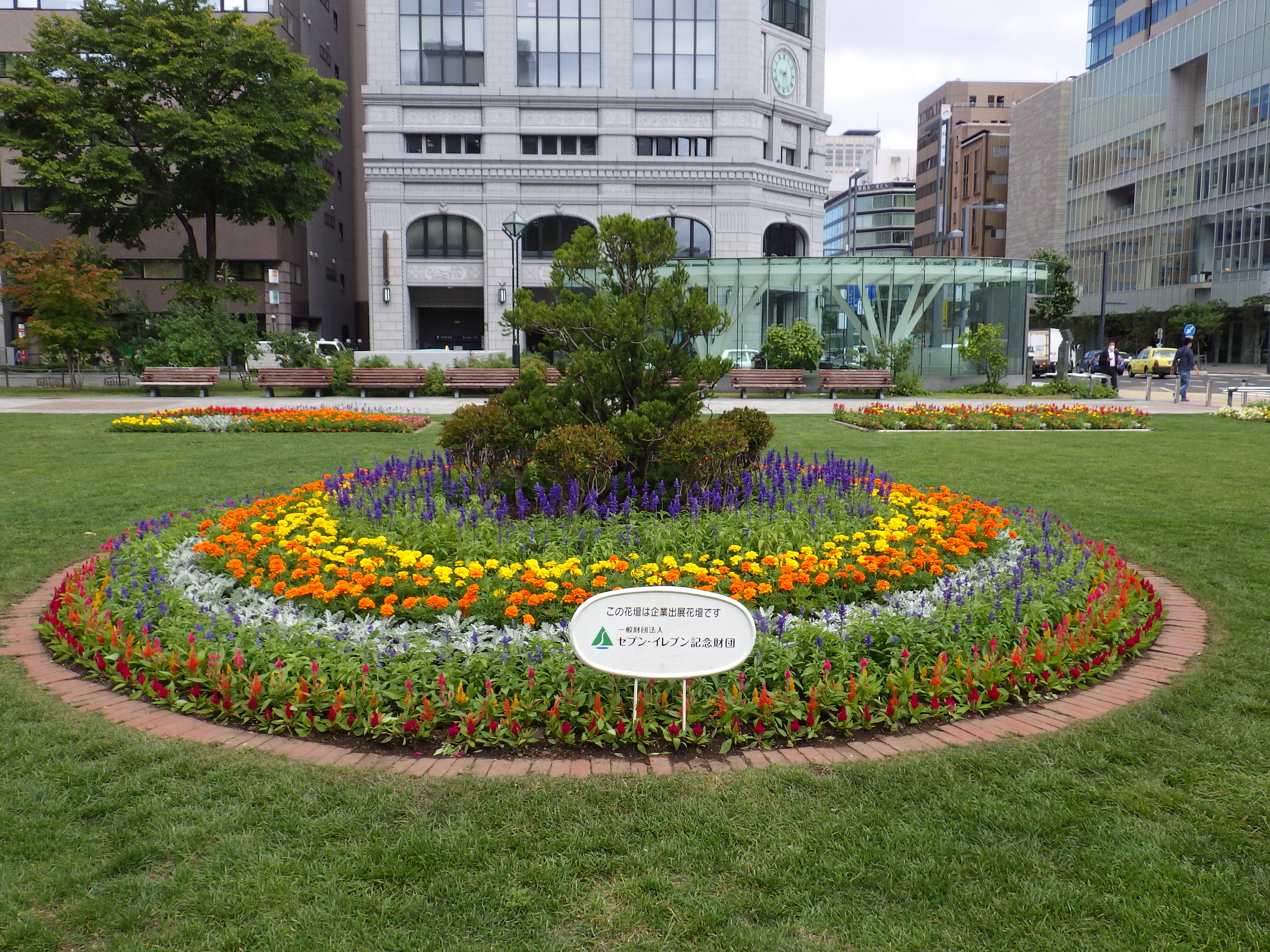 9月1日に植え替えたセブンイレブンのスポンサー花壇