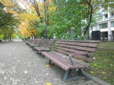 西6丁目南西のベンチの画像