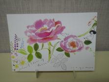 佐々木小世里さんバラの絵柄のポストカードの画像
