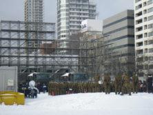 雪まつり出陣式の様子の画像