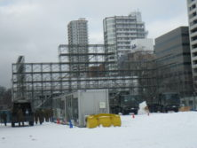 西7丁目大雪像造り開始の画像
